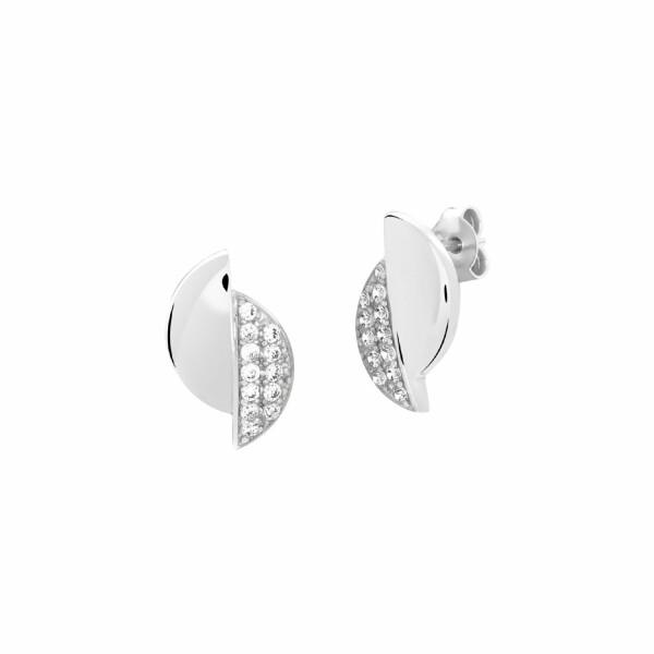 Boucles d'oreilles Murat en argent et oxydes de zirconium