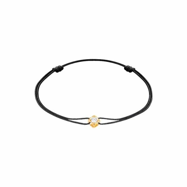 Bracelet sur cordon dinh van Le Cube Diamant en Or jaune et Diamant