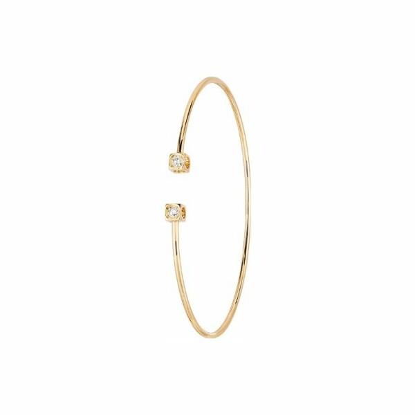 Bracelet dinh van Le Cube Diamant en or jaune et diamants petit modèle