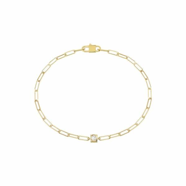 Bracelet dinh van Le Cube Diamant en or jaune et diamant
