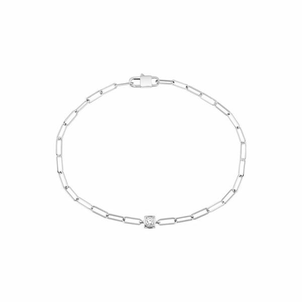 Bracelet dinh van Le Cube Diamant en or blanc et diamant