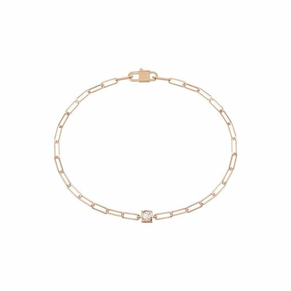 Bracelet dinh van Le Cube Diamant en or rose et diamant