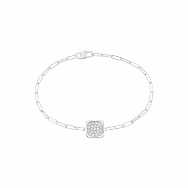 Bracelet dinh van Impression PM en or blanc et diamants