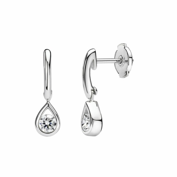 Boucles d'oreilles en or blanc et diamants de 0.20ct