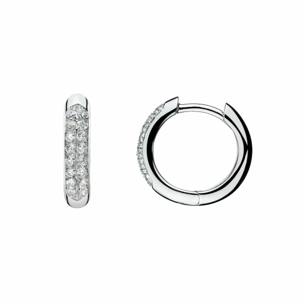 Boucles d'oreilles en or blanc et diamants de 0.32ct