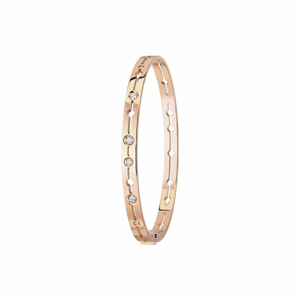 Bracelet dinh van Pulse dinh van en or rose et diamants