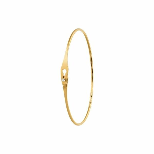Bracelet jonc dinh van Serrure en Or jaune et Diamant