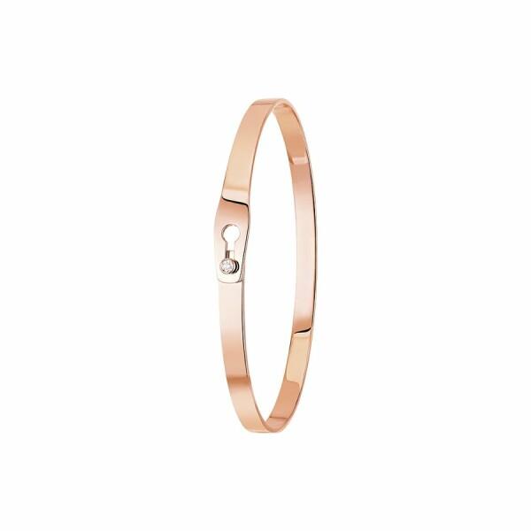 Bracelet dinh van Serrure en or rose et diamant