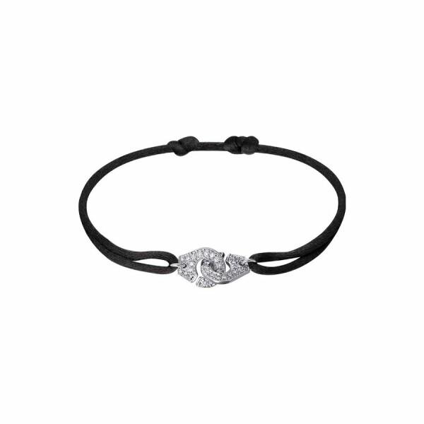 Bracelet sur cordon dinh van Menottes dinh van R10 en Or blanc et Diamant