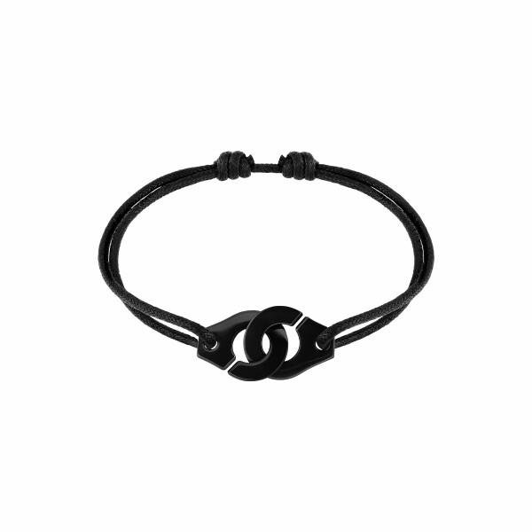 Bracelet sur cordon dinh van Menottes dinh van R15 en titane noir