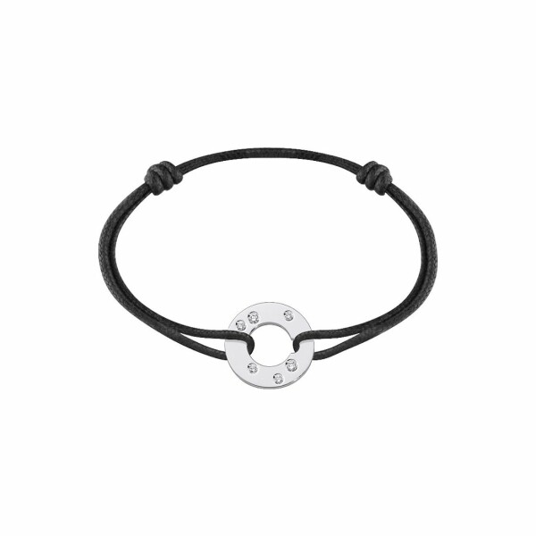 Bracelet dinh van Cible en or blanc et diamants