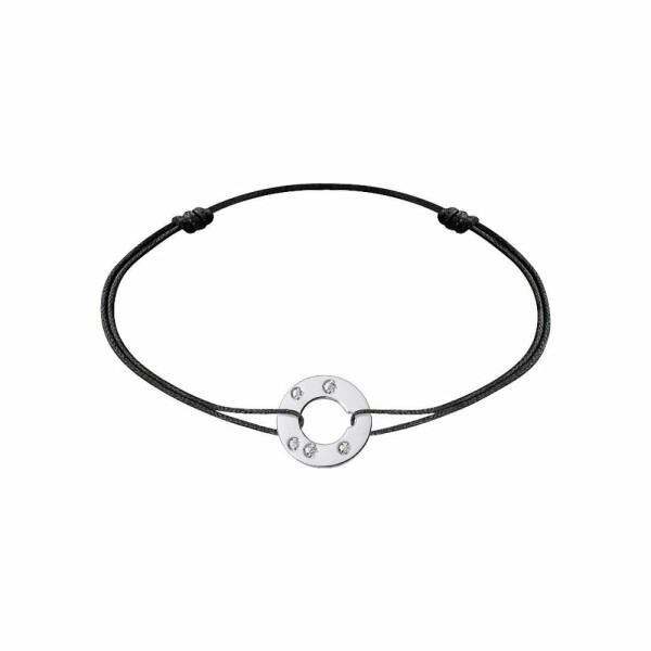 Bracelet sur cordon dinh van Cible en or blanc et diamants
