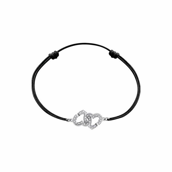 Bracelet dinh van Double Cœurs en or blanc et diamants