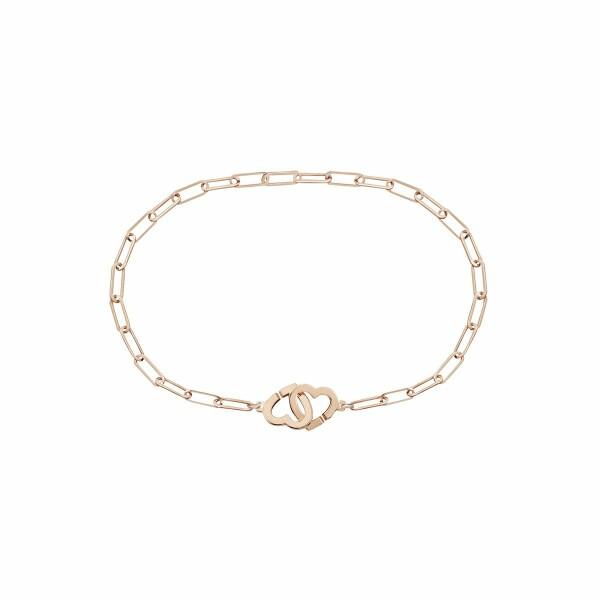 Bracelet dinh van Double Cœurs R9 en or rose