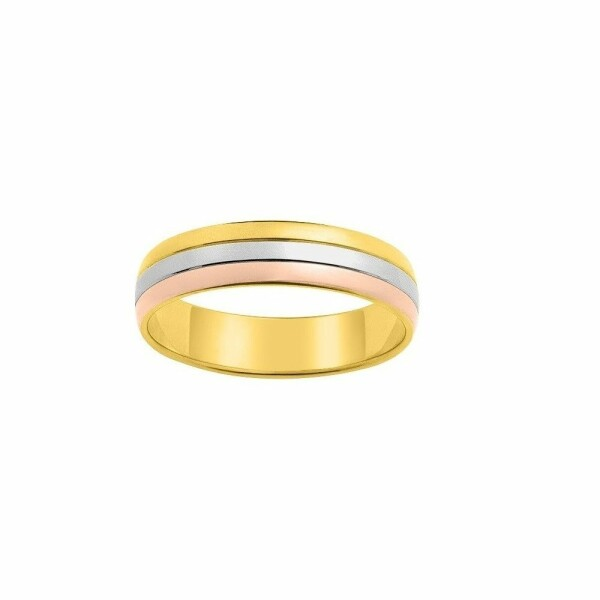 Bague en or blanc, or rose et or jaune