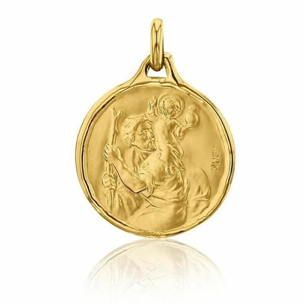Médaille de baptême Augis Saint Christophe en or jaune, 18mm