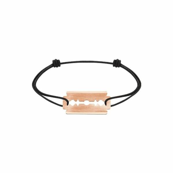 Bracelet sur cordon dinh van Lame de Rasoir en Or rose