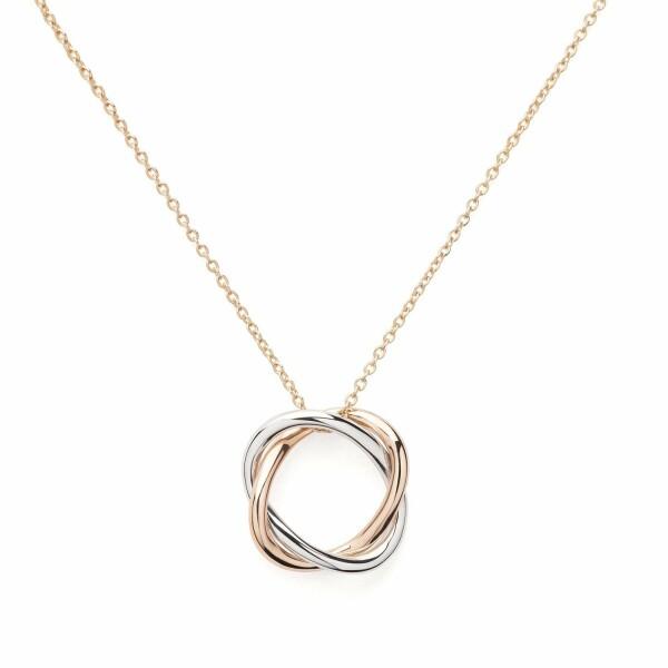 Collier Poiray Tresse Petit Modèle en or rose et or blanc