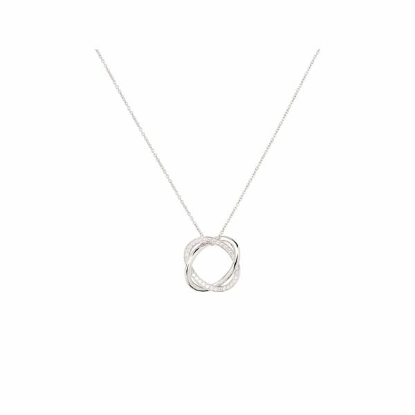 Collier Poiray Tresse en or blanc et diamants