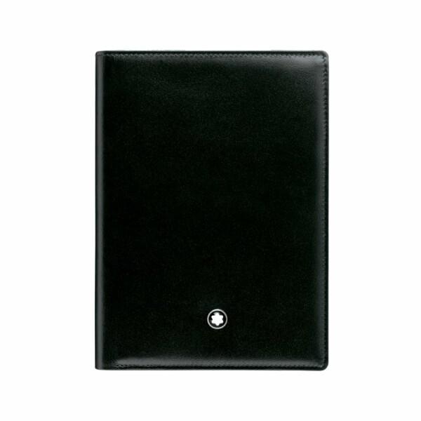 Portefeuille Montblanc Meisterstück en cuir noir