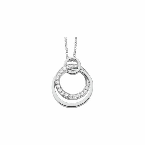 Collier en or blanc et diamants de 0.28ct