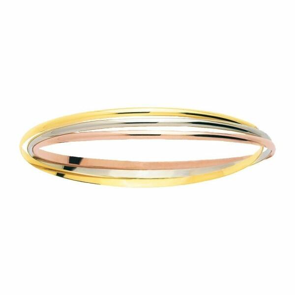Bracelet jonc en or blanc, or rose et or jaune