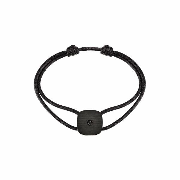 Bracelet sur cordon dinh van Zen en titane noir et diamants noirs