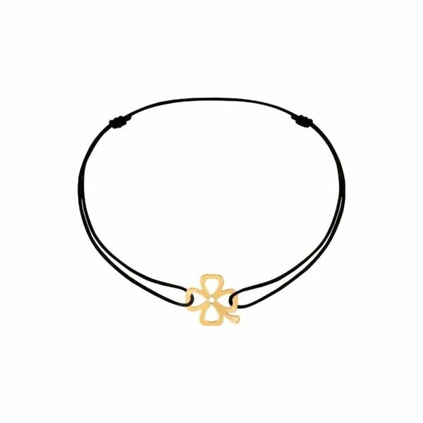 Bracelet dinh van Bubbles trèfle en or jaune