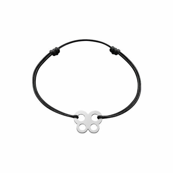 Bracelet sur cordon dinh van Bubbles papillon en Or blanc