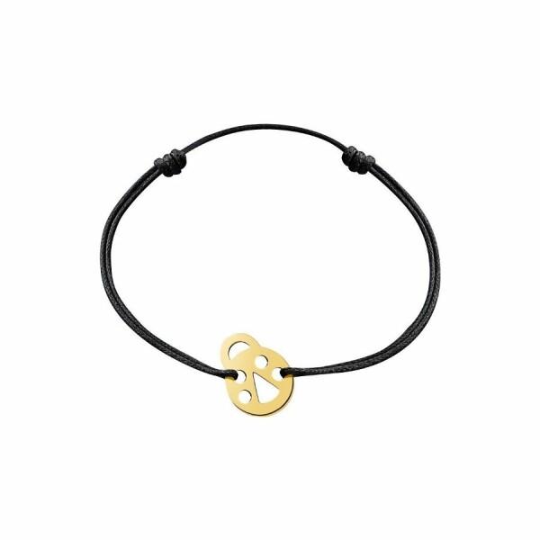 Bracelet sur cordon dinh van Bubbles coccinelle en Or jaune