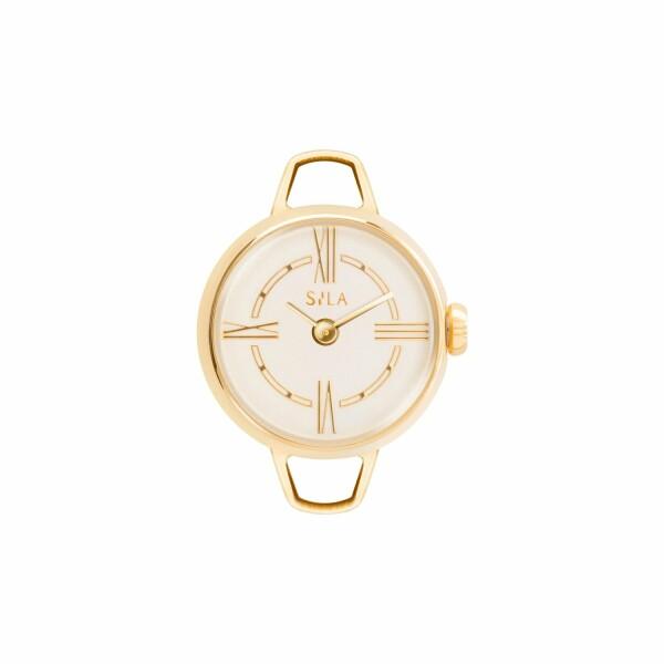 Boîtier de montre SILA en plaqué or jaune