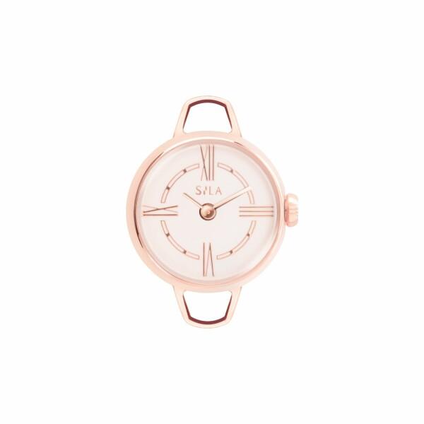 Boîtier de montre SILA en plaqué or rose