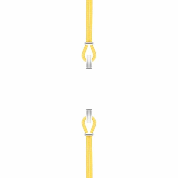 Bracelet de montre SILA en argent et coton, couleur jaune d'or