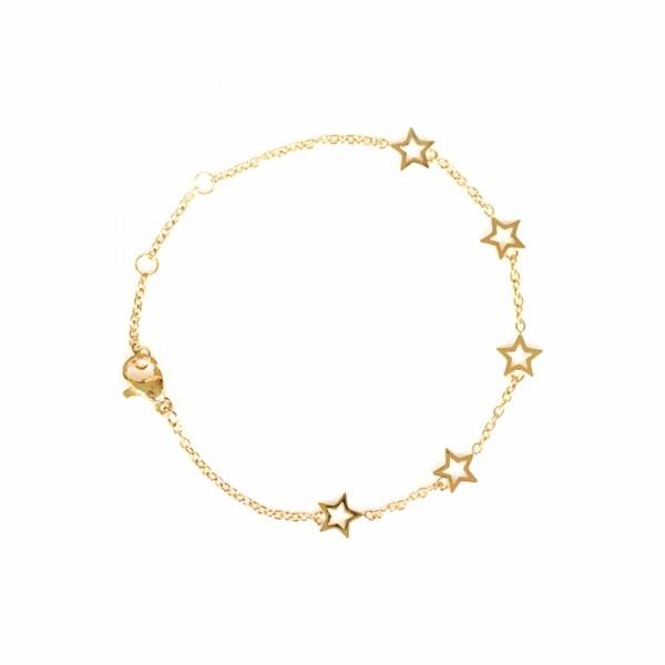 Bracelet étoiles SILA en plaqué or jaune