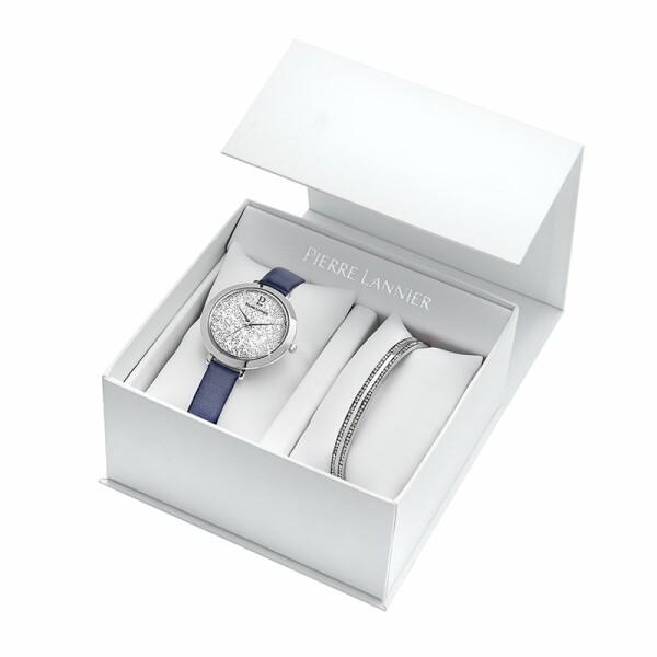 Coffret de montre Pierre Lannier Cristal 391B606 et un bracelet en cristaux swarovski