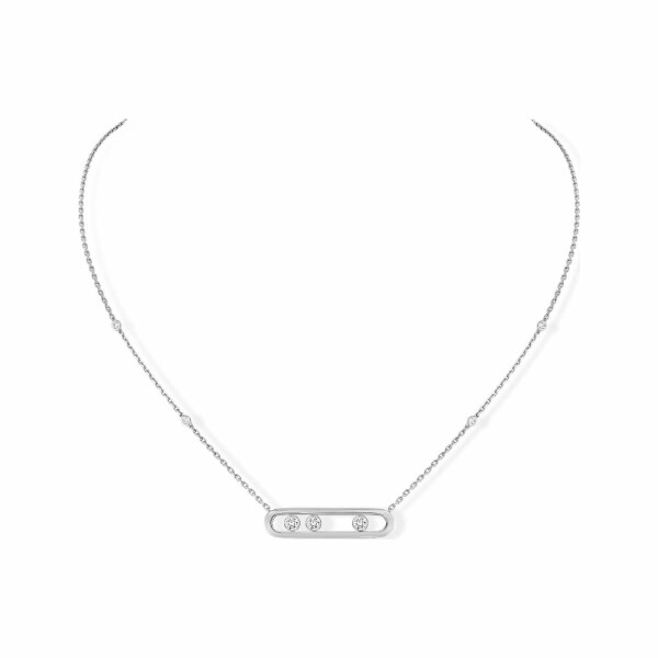 Collier Messika Move Classique en or blanc et diamants
