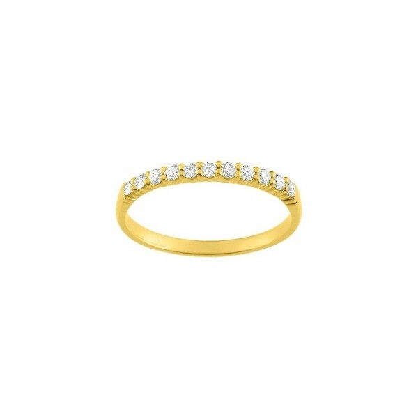 Bague en or jaune et diamants de 0.20ct