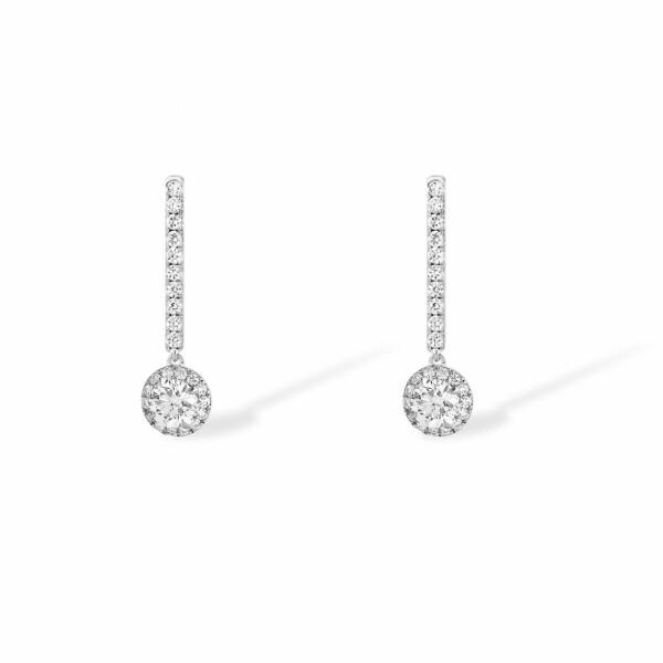 Boucles d'oreilles Messika Joy en Or blanc et Diamant