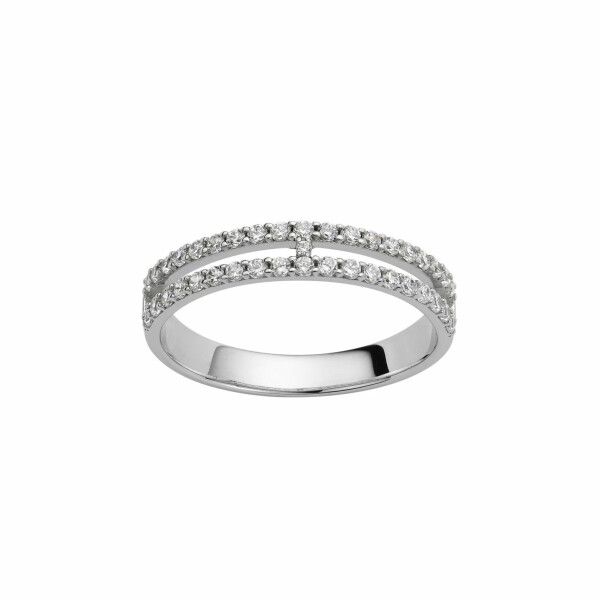 Bague en or blanc et diamants de 0.38ct