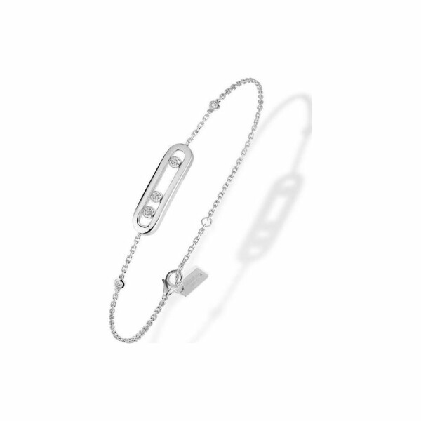 Bracelet Messika Baby Move en Or blanc et Diamant