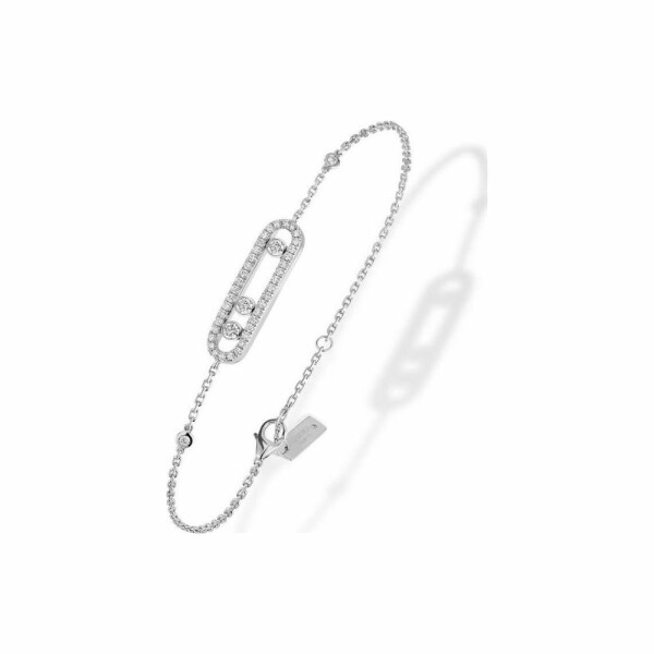 Bracelet Messika Baby Move Pavé en or blanc et diamants