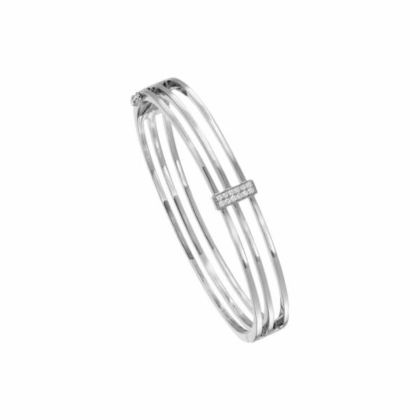 Bracelet en or blanc et diamants de 0.12ct