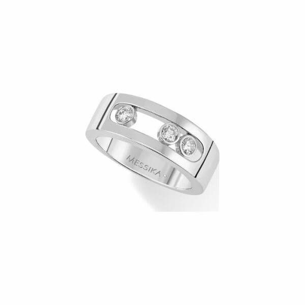 Bague Messika Move Joaillerie S en or blanc et diamants
