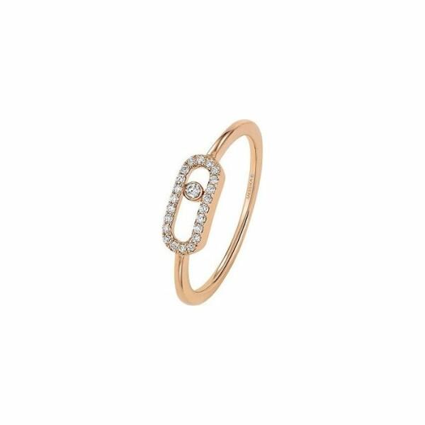 Bague Messika Move Classique Uno en Or rose et Diamant