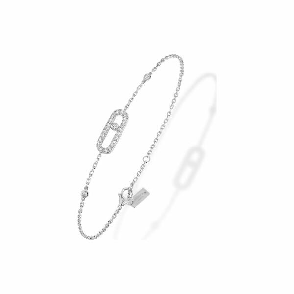 Bracelet Messika Move Classique Uno pavé en or blanc et diamants