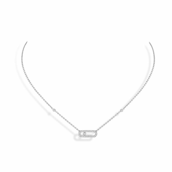 Collier Messika Move Classique Uno en or blanc et diamants