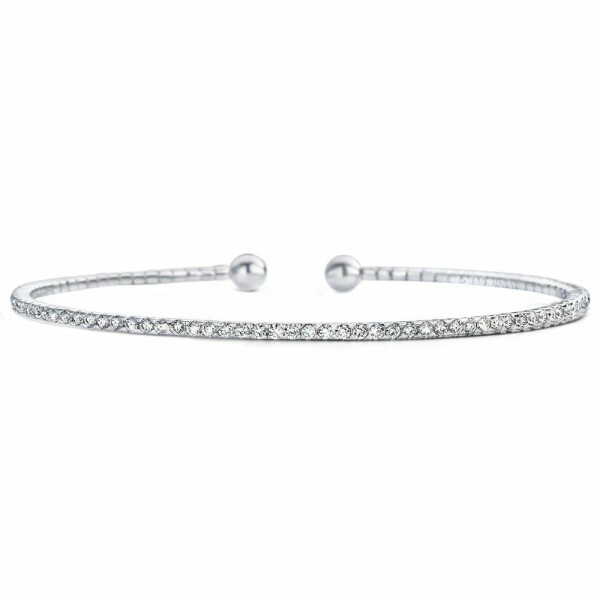 Bracelet Messika Skinny en or blanc et diamants