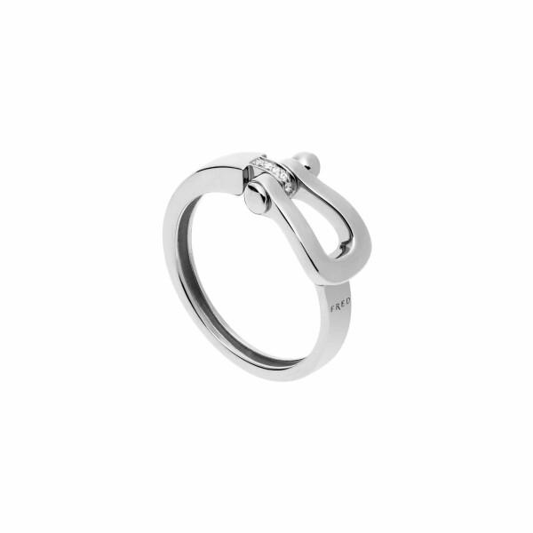 Bague FRED Force 10 moyen modèle en Or blanc et Diamant