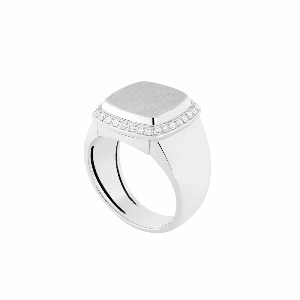 Monture de bague FRED Pain de sucre en or blanc et diamants
