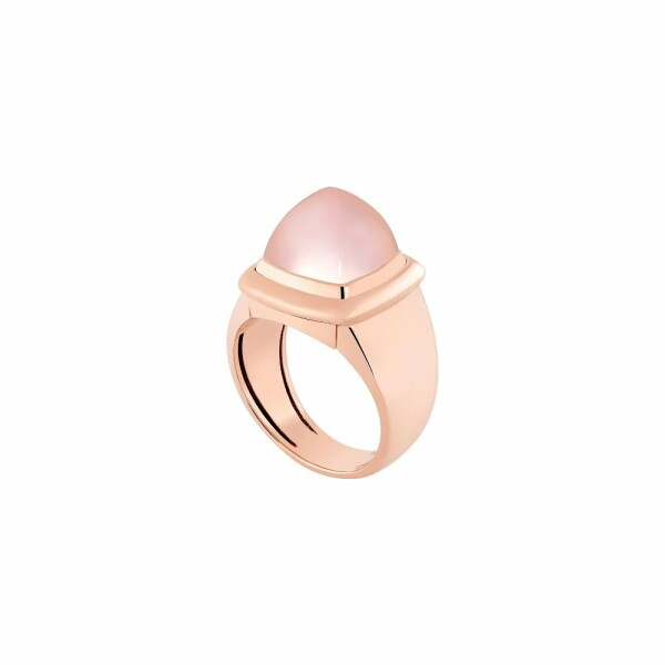 Bague interchangeable FRED Pain de sucre en or rose, quartz rose
